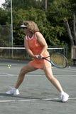 Jugador de tenis caucásico activo Foto de archivo libre de regalías