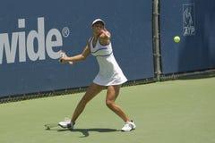 Jugador de tenis clásico nacional Fotografía de archivo