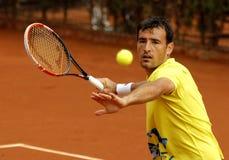 Jugador de tenis croata Ivan Dodig Fotos de archivo