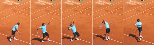 Jugador de tenis de categoría alta Roger Federer Imagenes de archivo
