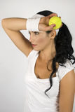 Jugador de tenis de las mujeres Foto de archivo libre de regalías