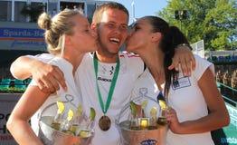 Jugador de tenis de Miki Jankovic Imagen de archivo libre de regalías