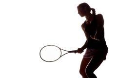 Jugador de tenis de sexo femenino Foto de archivo libre de regalías