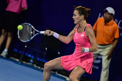 Jugador de tenis de sexo femenino Aginieszka Radwanska del mundo Imágenes de archivo libres de regalías