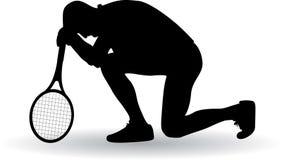 Jugador de tenis decepcionado Foto de archivo libre de regalías