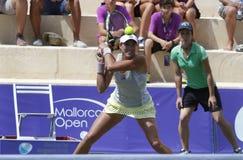 Jugador de tenis del top de Garbine Muguruza que juega en Mallorca abierta Imagenes de archivo