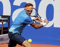 Jugador de tenis Denis Istomin del Uzbek Foto de archivo libre de regalías