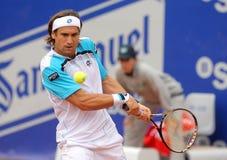 Jugador de tenis español David Ferrer Imagen de archivo libre de regalías