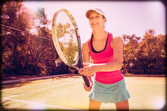 Jugador de tenis hermoso imagen de archivo libre de regalías