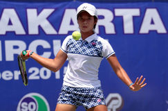 Jugador de tenis indonesio Fotos de archivo libres de regalías