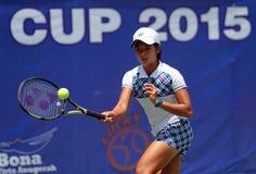 Jugador de tenis indonesio Deria Nurhaliza Imágenes de archivo libres de regalías