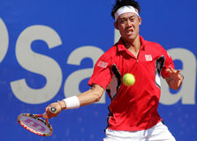 Jugador de tenis japonés Kei Nishikori imagen de archivo libre de regalías