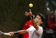 Jugador de tenis japonés Yuichi Sugita fotografía de archivo libre de regalías