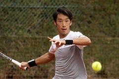 Jugador de tenis japonés Yuichi Sugita foto de archivo