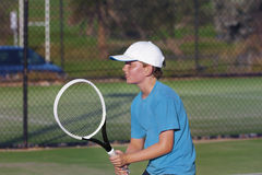 Jugador de tenis joven Fotografía de archivo