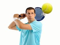 Jugador de tenis de la paleta imagen de archivo libre de regalías