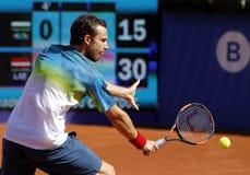 Jugador de tenis letón Ernests Gulbis Imagen de archivo libre de regalías