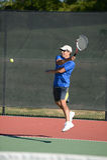 Jugador de tenis maduro foto de archivo libre de regalías