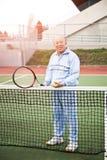 Jugador de tenis mayor Fotos de archivo