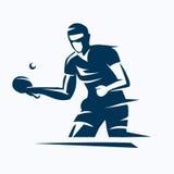 Jugador de tenis de mesa ilustración del vector