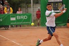 Jugador de tenis profesional Fotos de archivo