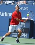 Jugador de tenis Roberto Bautista Agut, US Open 2013 Imagenes de archivo