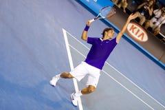Jugador de tenis Roger Federer Imágenes de archivo libres de regalías