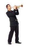 Jugador de trompeta Imagen de archivo