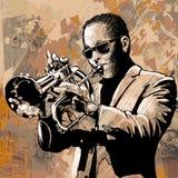 Jugador de trompeta Fotografía de archivo libre de regalías