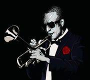 Jugador de trompeta ilustración del vector