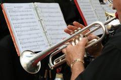 Jugador de trompeta Fotos de archivo