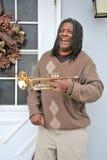 Jugador de trompeta del jazz. Fotografía de archivo libre de regalías