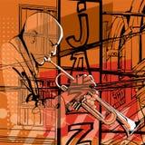 Jugador de trompeta del jazz Imágenes de archivo libres de regalías