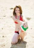 Jugador de voleibol Imagen de archivo