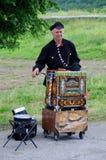 Jugador del órgano de barril Imagen de archivo libre de regalías