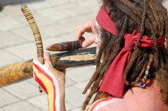 Jugador del aborigen Imagen de archivo libre de regalías