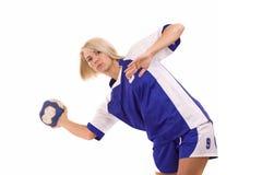 Jugador del balonmano Imagenes de archivo