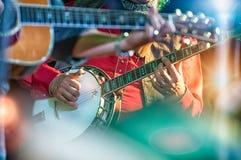 Jugador del banjo imagenes de archivo