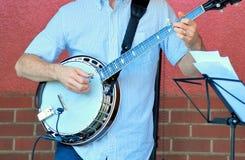 Jugador del banjo del Bluegrass fotografía de archivo libre de regalías