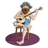 Jugador del banjo del país stock de ilustración