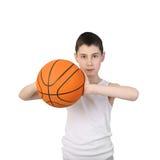 Jugador del baskerball del muchacho Imagenes de archivo