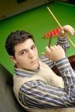 Jugador del billar Foto de archivo libre de regalías