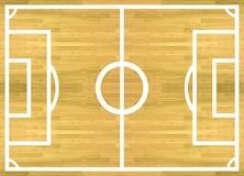 Jugador del campo de fútbol para la tarjeta de puntuación realista del planeamiento el playe Imagen de archivo
