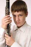 Jugador del Clarinet Foto de archivo libre de regalías