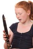 Jugador del Clarinet Fotos de archivo libres de regalías
