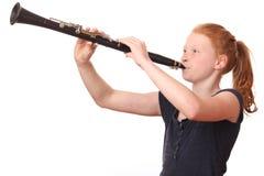 Jugador del Clarinet Imagenes de archivo