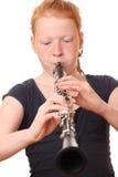 Jugador del Clarinet Fotografía de archivo libre de regalías