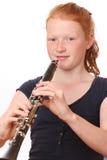 Jugador del Clarinet Fotos de archivo