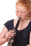 Jugador del Clarinet Imágenes de archivo libres de regalías