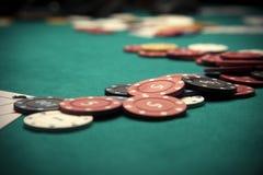 Jugador del concepto? A del póker con los as dobles? Imagen de archivo libre de regalías